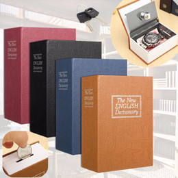 cash books Canada - 11.5x8x4cm Cash Money Coin Storage Jewellery Key Locker Dictionary Mini Safe Box Book Money Hide Secret Security Safe Lock Kid Gift