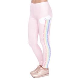$enCountryForm.capitalKeyWord NZ - Elegant Design Women Legging Rainbow Rain Printing Fashion Kawaii Leggings High Waist Woman Pants Y190603