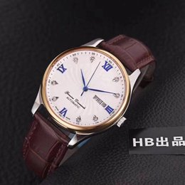 Japanese dress buckle online shopping - AAA luxury men s wristwatch high grade leather Japanese automaton core fashion business dress watch date sapphire glass