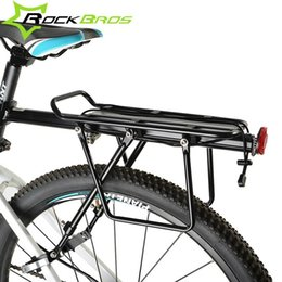 Ride Bikes Australia - ROCKBROS MTB Mountian Bicycle Rear Rack Alloy Back Seat Quick Release Bike Carrier Holder Riding Bike Travel Luggage Rack #221369