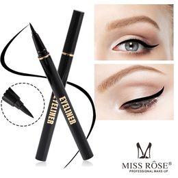 Wholesale Eye Pencils Australia - MISS ROSE Liquid Eyeliner New Eyeliner Waterproof Liquid Eye Liner Pencil Pen Beauty Make Up Beauty Cosmetics 2ml long lasting