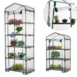 $enCountryForm.capitalKeyWord Australia - PVC Warm Garden Tier Mini Household Plant Greenhouse Cover Waterproof Anti-UV Protect Garden Plants Flowers (without Iron Stand)