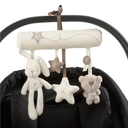 Baby Rattles Australia - 2019 Lovely Animal Development Cot Hanging Baby Rattle Toy Soft Plush Rabbit Musical
