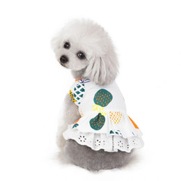 Wholesale extra large cotton dresses resale online – Dog Clothes Pineapple Printed Puppy Dress Cotton Dog Princess Dresses Breathable Fruit Pet Vest Skirt Pet Supplies3ColorWholesale WZW YW3729