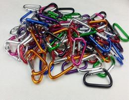 Vente en gros Aluminium Snap Mousqueton D-Ring Porte-clés Clip Porte-clés Randonnée Camp Alpinisme Crochet Escalade Accessoires