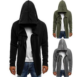 $enCountryForm.capitalKeyWord Australia - Fashion 2019 autumn and winter new dark cloak clothing assassin creed solid color hooded men's long-sleeved sweater coat