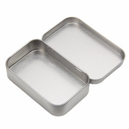 $enCountryForm.capitalKeyWord Australia - Metal Tin Silver Flip Storage Box Case Organizer For Money Coin Candy