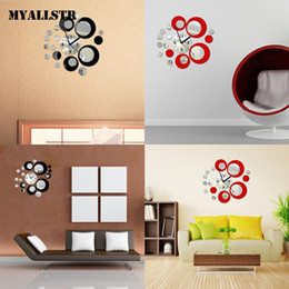 $enCountryForm.capitalKeyWord NZ - New Modern Home Room Art 3D DIY Clock Shape Mirror Decoration Pack of Living Wall Stickers