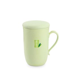 Tumbler Handle NZ - Natural health Environmental Protection Bamboo Fiber Plastic Belt Handle Office Water Cup coffee drinkware tumblers Solid home use mug cup