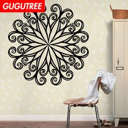 chinese famous paintings Australia - Decorate Home India Buddhism mandala flower art wall sticker decoration Decals mural painting Removable Decor Wallpaper G-1112