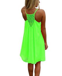 $enCountryForm.capitalKeyWord Australia - Sexy Casual Dresses Women Summer Sleeveless Evening Dance Party Beach Dress Short Chiffon Mini Dress Ladies Loose modest swimwear