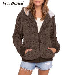 $enCountryForm.capitalKeyWord Australia - Free Ostrich fleece faux jacket coat women autumn winter warm thick teddy coat female casual overcoat oversize outerwear N30