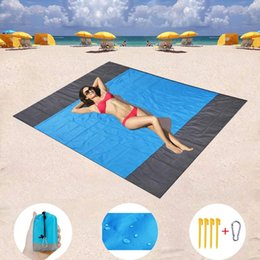 sand free mat 2019 - 200x210cm Pocket Picnic Waterproof Beach Mat Sand Free Blanket Camping Outdoor Picknick Tent Folding Cover Bedding cheap