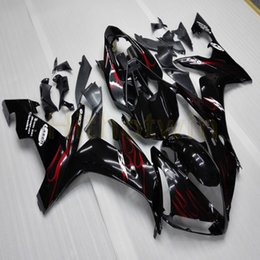 Discount red yamaha r1 - Screws+Custom-made red flames ABS Plastic YZFR1 04 05 06 motorcycle article hull Fairing For yamaha YZF R1 2004 2005 200