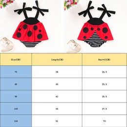 ladybug clothing UK - Cute Cartoon Ladybug Baby Girls Romper Jumpsuit Outfits for Newborn Baby Girl Infant Children Clothes Kid Clothing