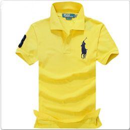 Big Man Polo Australia - Brand New Men's Polo Shirt High Quality Men Big Horse Embroidery Cotton Short Sleeve shirt 2019 Summer Mens polo Shirts Hot Sale