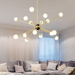 Modern Glasses Shop Australia - Modern creative Pendant light Toolery 12 16 head milky glass lampshade LED lamp droplight Living room shop Cafe Bar free EXPRESS