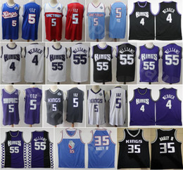 Wholesale black foxes for sale - Group buy Men De Aaron Fox Jersey Basketball Marvin Bagley III Jason Williams Chris Webber Edition Earned City Breathable Black Purple White