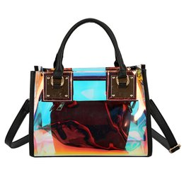 Colorful Buttons Bags UK - Messenger Bag Women Fashion PVC Multi-Function Messenger Bag Button Colorful Large Capacity Handbag Causal Totes Torba Damska