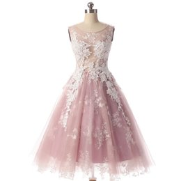 $enCountryForm.capitalKeyWord UK - 2018 elegant dark pink tulle short homecoming dresses white appliques cocktail party dresses hollow back short prom dresses mini party gowns