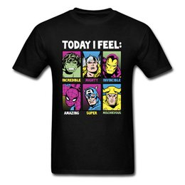 $enCountryForm.capitalKeyWord Australia - Today I Feel Marvel Heroes T Shirt Men Tshirts Classic Comics Clothes Iron Man Top Black Tees Plus Size T-shirt For Fathers