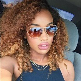 $enCountryForm.capitalKeyWord Australia - Honey Blonde Ombre Full Lace Human Hair Wigs Glueless Virgin Peruvian Kinky Curly Remy Hair Lace Front Wig Two Tone Color 1b 27