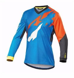 Pink Clothing Women UK - 2019 New Clothes for Men MTB T Shirt Breathable Light Quick Dry Long Sleeve Jersey D