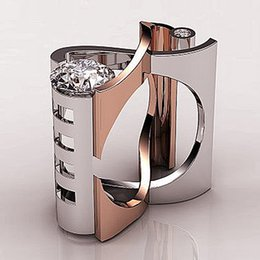 $enCountryForm.capitalKeyWord Australia - Luxury Finger Ring Silver Rose Gold Color Hollow Cross Heart Engagement Ring Men Vintage Wedding Rings For Women O5m295