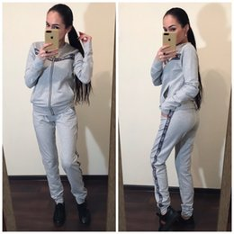 motorcycle jacket sport NZ - womens hoodie legging two piece set outfits long sleeve tracksuit jacket pants sportswear outerwear tights sports set very hot klw2953