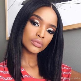 lace layered shorts UK - HD Full Lace Wig Short Bob 13x4 Frontal Virgin Brazilian Remy Hair Glueless Pre Plucked HD Transparent Lace Front Wigs For Black Women