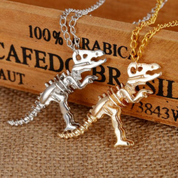 $enCountryForm.capitalKeyWord Australia - Europe and the United States foreign trade original single jewelry retro metal dinosaur skeleton necklace sweater chain