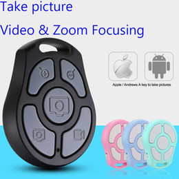 Newest 5 Key Selfie Shutter Bluetooth Remote Control Self timer fast camera flexible zoom adjusted lens video For iPhone Android Smartphones on Sale
