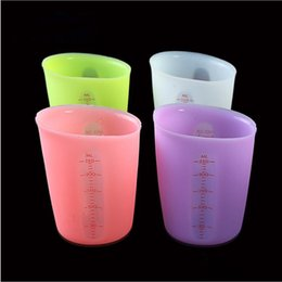$enCountryForm.capitalKeyWord Australia - Measuring Cups Silicone Candy Color Double-scale Measuring Tools Eco-Friendly Silicone Milk Cup Cake Tools Camp Kitchen dispensing cup LT817
