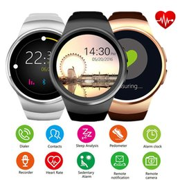 Wrist Band Pedometer Australia - KW18 Smart Watch Bluetooth Smartwatch Heart Rate Monitor Pedometer Round Dial Wrist Bands Waterproof For Android IOS Phone Mate Watches