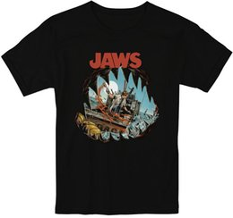 Green White Movie Logo UK - Jaws Retro Movie 70's 80 T Shirt S-5XL Men and Women Custom t shirt logo text photo Mens Womens T-shirt men tshirt rock