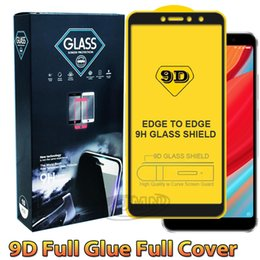 9D Completa capa de cola protetor de tela do telefone de vidro temperado para iphone xr xs max huwei y5 y6 y6 y9 2019 samsung m20 m30 a90 a10 a30 a40 a50 venda por atacado