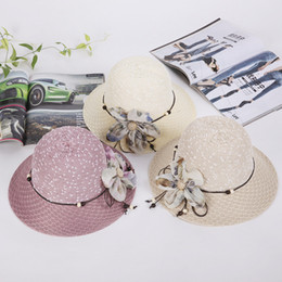 16a14c2032c9d Sandy Beach Sunshade Cap Spring And Summer Women Flower Straw Hat Fashion  Ventilation Comfortable Sun Caps Hot Selling Style 6dnI1
