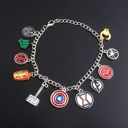 Marvel bracelet online shopping - Marvel The Avengers Iron Man Thor Captain America Bracelets Superhero Charm Bangle for Men Women Movie Jewerly Gift DHL