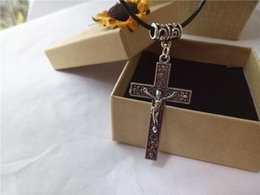 Vintage Chain Pendant Cheap NZ - cecmic vintage silver mens cross pendant pendants for men cheap necklace from jewelry making supplier direclty China