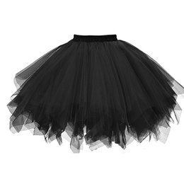 $enCountryForm.capitalKeyWord Australia - New 2018 Short Petticoat Tulle Skirts Womens Elastic Stretchy Layers Summer Adult Tutu Skirt Underskirt