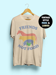 $enCountryForm.capitalKeyWord Australia - Hillbilly Friends Not Food Cotton T-shirt Vintage Tshirt Tee Gift for Vegan Shirt Vegetarian Natural Cute Hippie 80s 90s Tops Q190522