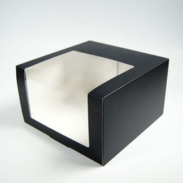 PaPer box Pvc window online shopping - Paper Cap Box With PVC Window Birthday Party Gift Box Folding Clothing Hats Cap Packing Boxes Colorful ZC0546