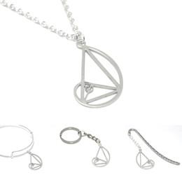 China Fibonacci Necklace Ratio Pendan Triangle Teacher Science Gift Graduation Gift Geometry Math bangle kering bookmark cheap science necklaces suppliers