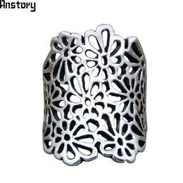 Vintage Cluster Rings Australia - fashion for women Vintage Flower Cluster Plant Rings For Women Antique Silver Plated Fashion Jewelry TR641