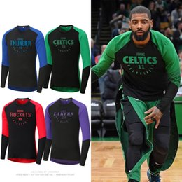 Usa basketball shirts online shopping - Usa Basketball Sports T shirt Long sleeve Tights Quick drying Basketball Training Suit Leonard Jersey SH190720