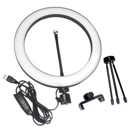 """China 10""""Ring Light LED Dimmable Desktop Lamp Selfie Ring Light with Tripod Stand for YouTube Video,Led Camera Ringlight for Live Stream,Makeup cheap lamp camera suppliers"""