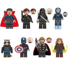 $enCountryForm.capitalKeyWord Australia - Avengers Super Hero Doctor Strange Black Widow Hawkeye Pepper Rocket Captain America Thor Captain Marvel Action Figure Building Block