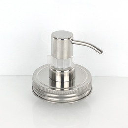 Hotel Hand soap online shopping - Silver Hand Soap Lotion Dispenser Pump Stainless Steel Mason Jar Countertop Soap Hotel Bathroom Accessory Household Tool