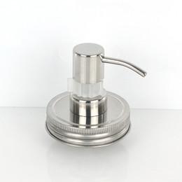$enCountryForm.capitalKeyWord Australia - Silver Hand Soap Lotion Dispenser Pump Stainless Steel Mason Jar Countertop Soap Hotel Bathroom Accessory Household Tool