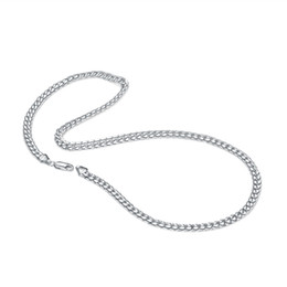 $enCountryForm.capitalKeyWord UK - Fashion 100% 925 solid sterling silver Rolo Chain necklace men 18- 22 inches popular thick chain Cuban Chain silver jewelry